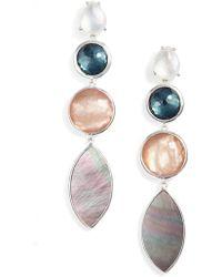 Ippolita - Wonderland Semiprecious Stone Linear Drop Earrings - Lyst