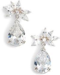 Nina - Mini Floral Drop Earrings - Lyst