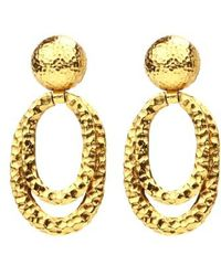 Ben-Amun - Layered Hoop Clip Earrings - Lyst