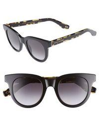 Marc Jacobs - 47mm Round Lens Cat Eye Sunglasses - Lyst