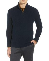 Ben Sherman - Regular Fit Quarter Zip Sweater - Lyst