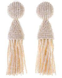 Oscar de la Renta   'classic Short' Tassel Drop Earrings   Lyst