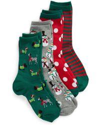 Hot Sox - 4-pack Holiday Snowmen 4-pack Socks - Lyst