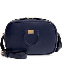 Ferragamo - Gancio Metallic Leather Camera Bag - Lyst