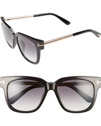 d23b7241542 Tom Ford - Tracy 54mm Retro Sunglasses - Shiny Black  Gradient Smoke - Lyst