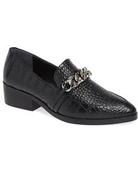 454c0e5f5a106 Michael Michael Kors Molly Leather Loafers in Black - Lyst