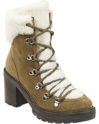 Marc Fisher - Daven Genuine Shearling Lace Up Boot - Lyst
