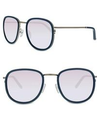 Smoke X Mirrors   51mm Sunglasses - Milky Grey/ Silver Mirror   Lyst