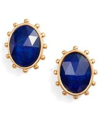 Kate Spade - Perfectly Imperfect Oval Stud Earrings - Lyst