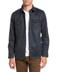 Jeremiah - 'colt' Regular Fit Sueded Cotton Blend Shirt Jacket - Lyst