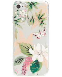 Kate Spade | Jewelled Botanical Transparent Iphone 7/8 & 7/8 Plus Case | Lyst