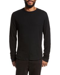 Vince - Double Knit Long Sleeve T-shirt - Lyst