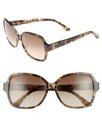 Juicy Couture | Shades Of 57mm Square Sunglasses - Khaki Milk Havanna | Lyst