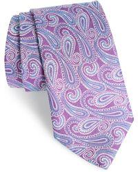 David Donahue - Paisley Linen & Silk Tie - Lyst