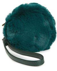 Evelyn K - Macaron Faux Fur Wristlet - Lyst