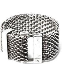 Title Of Work - Macro Adjustable Mesh Ring - Lyst