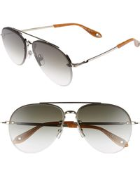 481f2240a3e9d Givenchy Modified Aviator Sunglasses in Brown for Men - Lyst