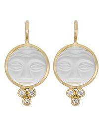 Temple St. Clair - Temple St. Clair Moonface Diamond & Rock Crystal Earrings - Lyst