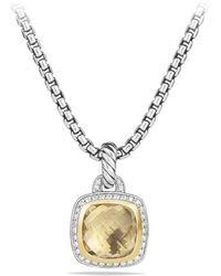 David Yurman - 'albion' Pendant With Diamonds And 18k Gold - Lyst