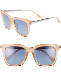 838c668855 DIFF - Bella 52mm Polarized Sunglasses - Coral  Blue Gradient - Lyst