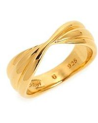 J.Crew - Demi Fine 14k Gold Plate Twisted Ring - Lyst