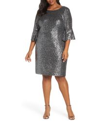 Alex Evenings - Ruffle Cuff Sequin Cocktail Dress - Lyst