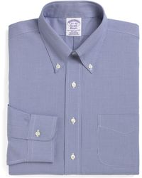 Brooks Brothers - Madison Classic Fit Houndstooth Dress Shirt (3 For $207) - Lyst
