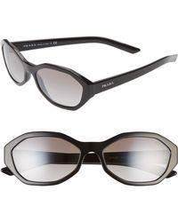 d96ce9674 Prada - 56mm Gradient Geometric Sunglasses - Lyst