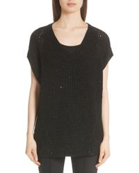 Lafayette 148 New York - Metallic Wool, Silk & Cashmere Blend Sweater - Lyst