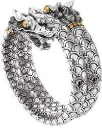 John Hardy - 'naga' Double Coil Dragon Bracelet - Lyst
