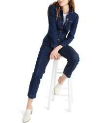 83ab293ccea Madewell Denim Riveter Coverall Jumpsuit in Blue - Lyst