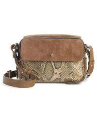 Isabel Marant - Tinken Leather & Suede Crossbody Bag - - Lyst