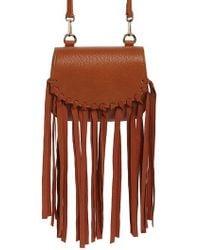 Jules Kae - Mini Dylan Fringe Faux Leather Crossbody Bag - Lyst