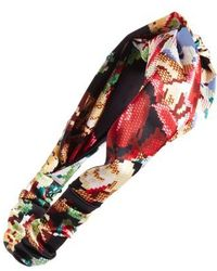 Cara | Floral Print Needle Point Twisted Head Wrap | Lyst