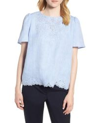 Nordstrom - Embroidered Eyelet Top - Lyst