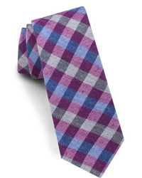Ted Baker - Check Silk & Wool Tie - Lyst