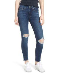 Levi's - Levi's 721(tm) Ripped High Waist Skinny Jeans - Lyst