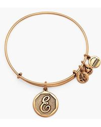 ALEX AND ANI | 'initial' Adjustable Wire Bangle | Lyst