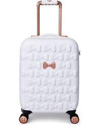 Ted Baker - Small Beau 21-inch Bow Embossed Four-wheel Trolley Suitcase - - Lyst