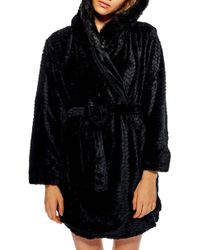 TOPSHOP - Kimmie Hooded Short Robe - Lyst