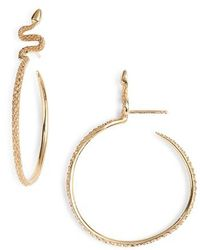 Nora Kogan - Sones Snape Hoop Earrings - Lyst
