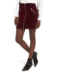 SuperTrash - Selvet Velvet Miniskirt - Lyst