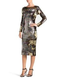 Dress the Population | Emery Scoop Back Sequin Body-con Dress | Lyst