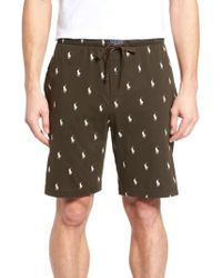Ralph Lauren - Print Jersey Pajama Shorts - Lyst