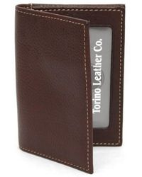 Torino Leather Company - Leather Card Case - Lyst
