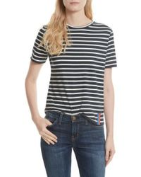Kule - The Modern Stripe Cotton Tee - Lyst