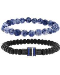 Ben Sherman - Rondelle Bead Bracelet - Lyst