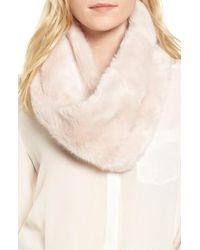 Badgley Mischka | Faux Chinchilla Neck Warmer | Lyst