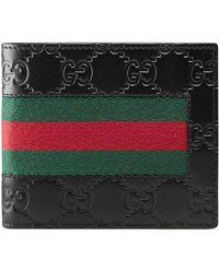 Gucci Signature Web Wallet - Black