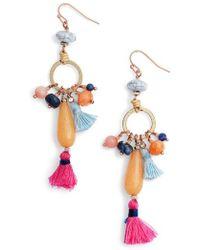 Nakamol - Stone & Tassel Drop Earrings - Lyst
